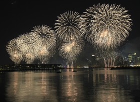 Fireworks on the Hudson River