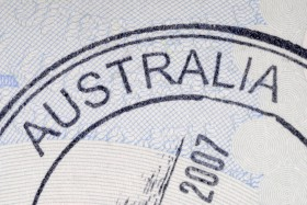 Australia immigration arrival passport stamp