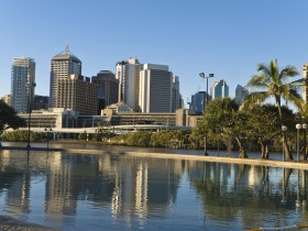 Southbank Parklands Beach, Brisbane on a winters afternoon
