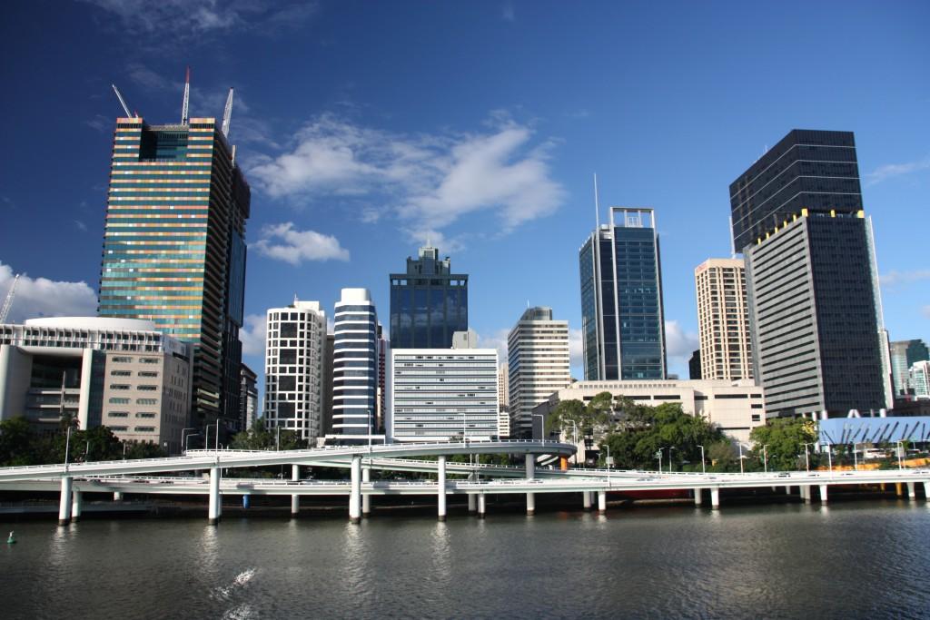 Brisbane, Queensland. Beautiful city and the river. Australia summer.