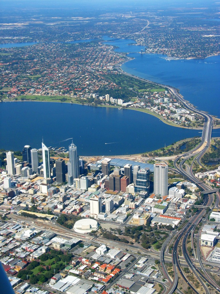 Perth City Aerial View 2