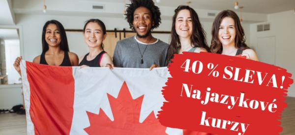 KANADA sleva 40 % na kurzy angličtiny!