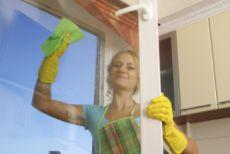 Women cleaning a window 2