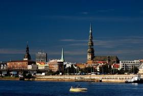 Panorama di Riga dalla Daugava