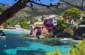 Village of Assos at Kefalonia island, Greece